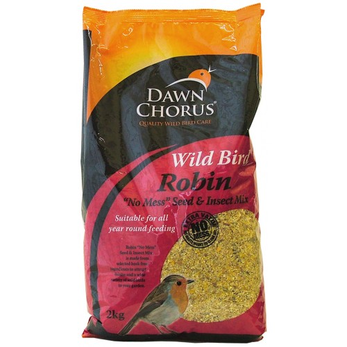 Dawn Chorus Robin No Mess Seed & Insect Mix 2kg