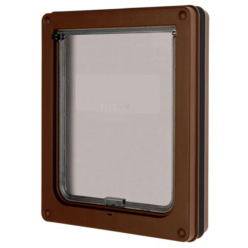 Dog Door Brown Medium