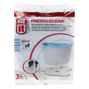 Dogit Fresh & Clear Foam/carbon Filters For 6l Fountain 3pack