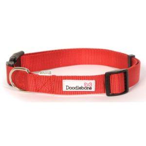 Doodlebone Bold Nylon Collar Red Medium 20mm X 40-60cm