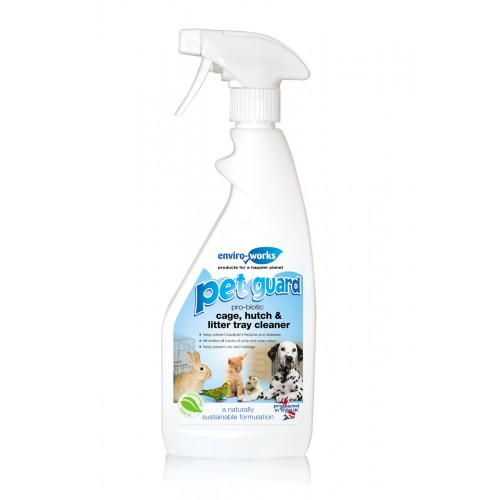 Enviro-works Pet Guard Cage Hutch & Litter Tray Cleaner Trigger 500ml