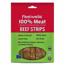 Feelwells 100% Meat Treats Beef Strips 100g x10