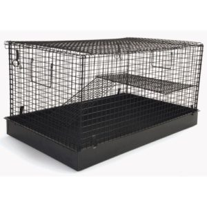 Flat Pack 2 Story Ferret/chinchilla/rat Home Black 69x43x46cm