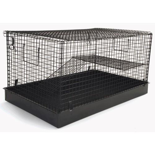 Flat Pack 2 Story Ferret/chinchilla/rat Home Black 69x43x46cm
