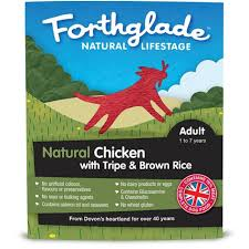 Forthglade Natural Lifestage Adult Chicken With Tripe & Brown Rice 395g x18