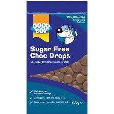 Good Boy Sugar Free Chocolate Drops Pouch 250g x8
