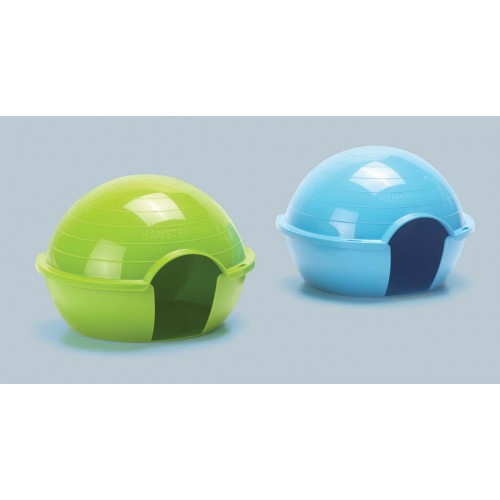 Hamster Igloo Assorted Colours 15x12x11cm