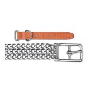 Heritage 3 Row Heavy Chain Collar Tan 55cm/22″ Sz 6
