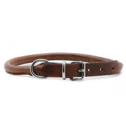 Heritage Leather Round Sewn Collar Chestnut 35cm/14″ Sz 2
