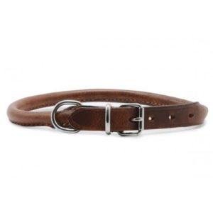 Heritage Leather Round Sewn Collar Chestnut 45cm/18″ Sz 4