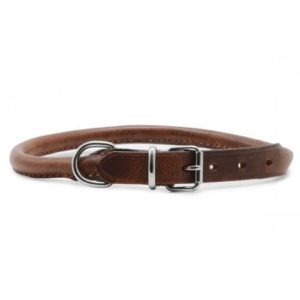 Heritage Leather Round Sewn Collar Chestnut 65cm/26″ Sz 8