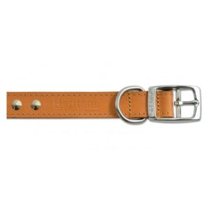 Heritage Leather Sewn/studded Collar Tan 55cm/22″ Sz 6