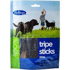Hollings Sticks Tripe Pre Pack 100g x20
