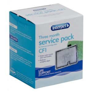 Interpet Internal Cartridge Filter Cf1 Three Month Service Kit