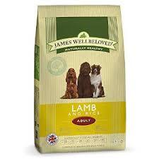 James wellbeloved Dog Adult Lamb & Rice Kibble 7.5kg
