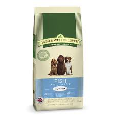 James wellbeloved Dog Junior Ocean White Fish & Rice Kibble 15kg