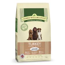 James wellbeloved Dog Junior Turkey & Rice Kibble 2kg
