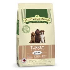 James wellbeloved Dog Junior Turkey & Rice Kibble 7.5kg