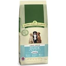 James wellbeloved Dog Large Breed Junior Duck & Rice Kibble 15kg