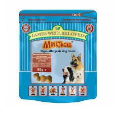 James wellbeloved Dog Minijacks Treats Fish 90g X10