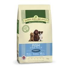James wellbeloved Dog Puppy Ocean White Fish & Rice Kibble 2kg