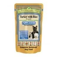 James wellbeloved Dog Puppy Pouch Turkey With Rice 150g x10
