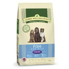 James wellbeloved Dog Senior Ocean White Fish & Rice Kibble 2kg