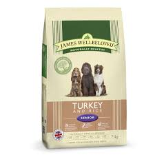 James wellbeloved Dog Senior Turkey & Rice Kibble 7.5kg
