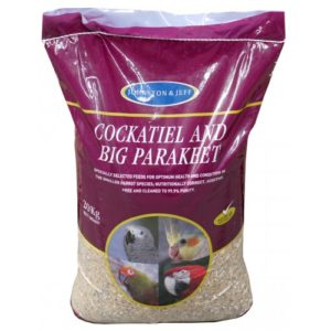 J&j Cockatiel & Big Parakeet Mix 20kg
