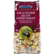 J&j Large Parrot Low Sunflower Mix 12.75kg