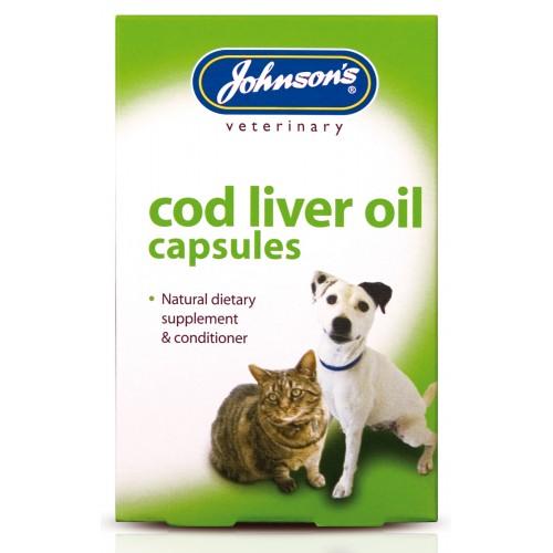 Jvp Dog & Cat Cod Liver Oil 40 Capsules