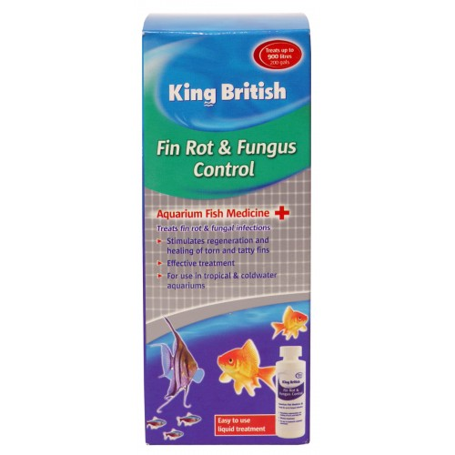 King British Aquarium Fin Rot & Fungus Control 100ml