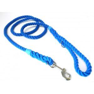 Kjk Ropeworks Clip & Ring Lead Blue 6mm X 120cm