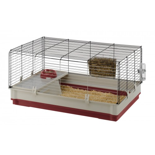 Krolik Small Animal Cage Burgundy 100 X 60 X 50cm