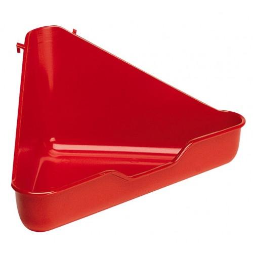 L370 Corner Toilet For Small Animals Asstd 27x27x17cm