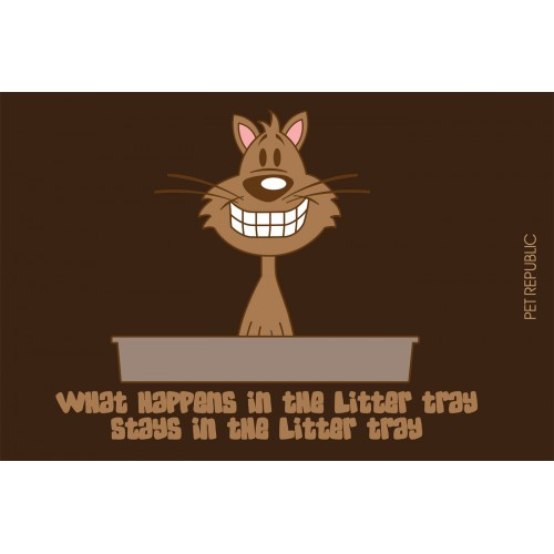 Litter Tray Mat Animated 40x60cm