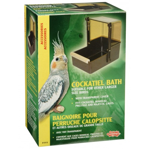 Living World Bird Bath Cockatiel