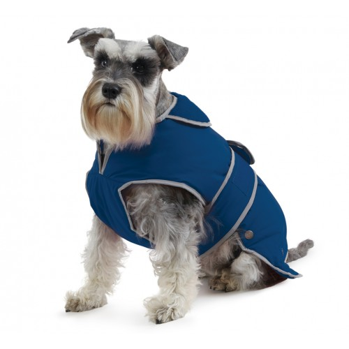 Muddy Paws Stormguard & Fleece Lining Coat Blue Extra Large