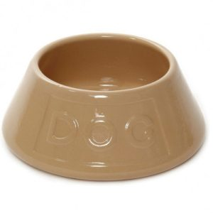 Non Tip Spaniel Water Bowl Lettered Dog