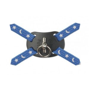 Nylon Harness Figure 8 Moon & Stars Blue