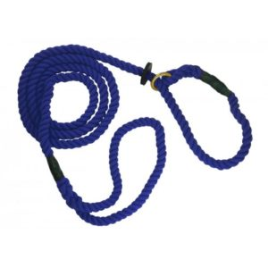 Outhwaites Gun Dog Rope Slip Lead Navy 180cm X 8mm