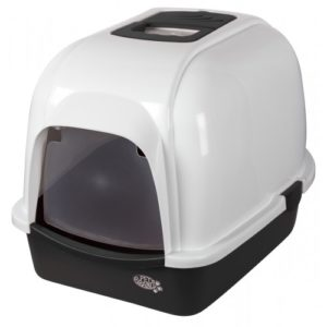 Oval Litter Tray With Hood Black