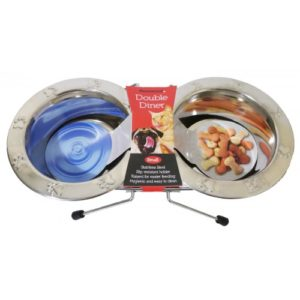 Paw Embossed Wire Double Diner Sml