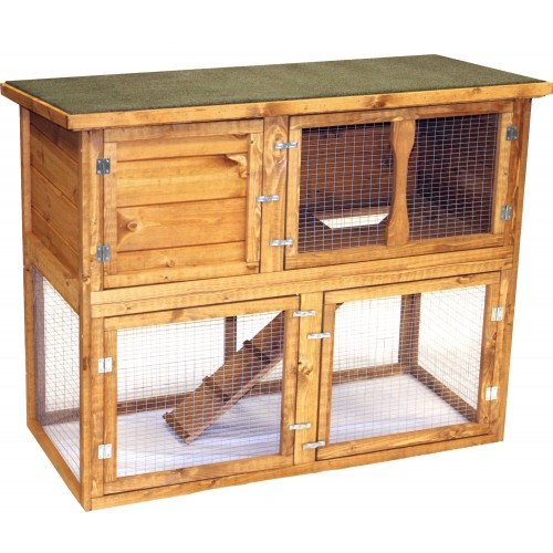 Pet Specialist Garden Hutch & Run 131 X 65 X 102cm