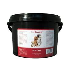 Proreward 100% Liver Dog Treats Bulk Tub 500g