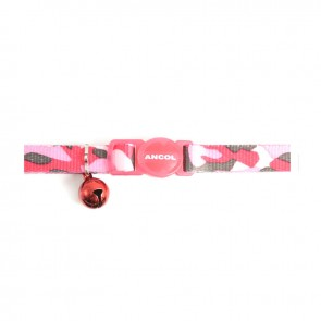 Safety Buckle Cat Collar Camoflage Pink