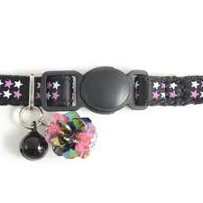 Safety Buckle Kitten Collar Luxury Jewel Black