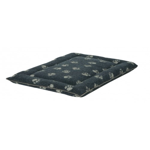 Sherpa Fleece Navy Cage Mattress Medium 53x76cm