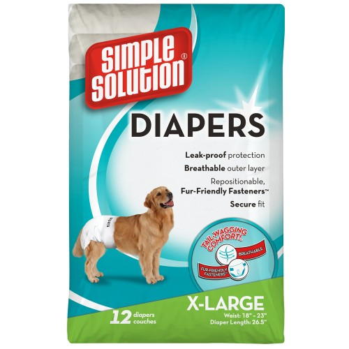 Simple Solution Dog Disposable Diapers Extra Large 12pk