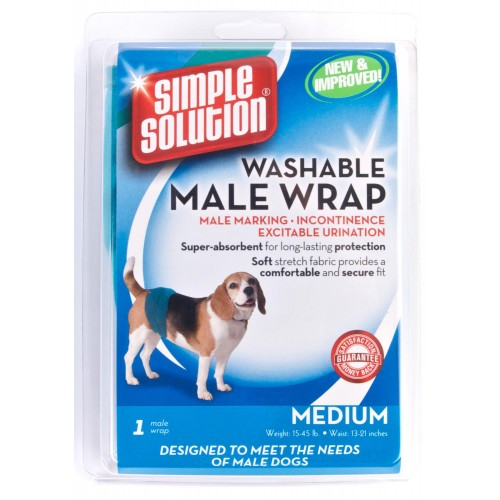 Simple Solution Dog Male Washable Wrap Medium